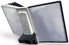 DURABLE Sherpa® Bureaustandaard met 10 panelen Grijs zwart A4 Metaal