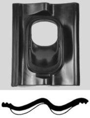 Zwarte Ubbink Kunststof dakpan sneldek SND 1-pans voor doorvoer 110 en 131 dakhelling 25-45° (0170071)