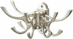 Haceka ophanghaak 5-vdg Vintage, messing, zilver, (lxdxh) 120x260x60mm