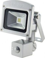 Ledino LED-Flutlichtstrahler, HF-Sensor, 10 Watt Epistar-LED, silber Farbe: Warmweiß