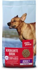 Pets Place Adult Krokante Brokken Gevogelte&Vlees - Hondenvoer - 15 kg - Hondenvoer