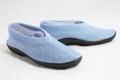 Lichtblauwe Plumex 2250 gebreide schoenen licht blauw