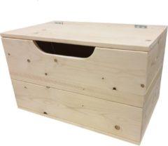 Bruine Wood4you - Speelgoedkist Kick vuren 70Bx50Hx50D cm - Opbergkist