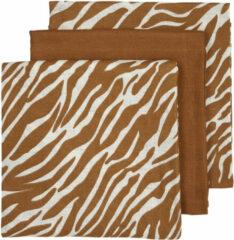 Gebroken-witte Meyco hydrofiele luiers - set van 3 zebra/uni camel
