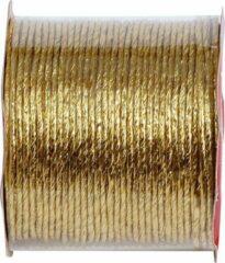 Merkloos / Sans marque Decoratief aluminium draad met goud metallic laagje, rol 20 meter