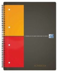 Grijze Oxford International Activebook collegeblok - A4+ - Geruit 5 mm - 160 pagina's