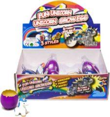 Massamarkt Ei met groeiende magische unicorn 6cm