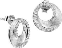 Zilveren The Jewelry Collection Oorknoppen Gescratcht - Zilver Gerhodineerd