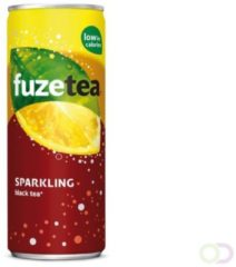 Frisdrank FuzeTea Sparkling/lemon blikje 0.33l