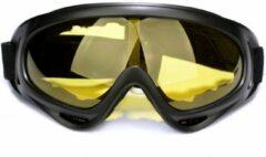 Merkloos / Sans marque Ski & Snowboard Bril - Volwassenen - Masker - Geel - Wintersport