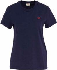 Donkerblauwe Levi's T-shirt met ronde hals en logo
