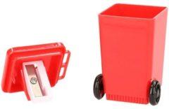 Merkloos / Sans marque Rode rolcontainer puntenslijper - vuilnisbak potloodslijpers