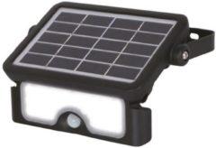 Zwarte HÖFFTECH Höfftech Ultra Krachtige Solar LED Floodlight - 500 Lumen - Met Bewegingssensor