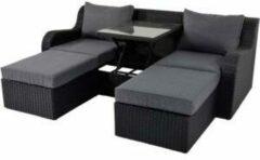 Lesli Living Lesli Multibank / loungeset 'Pandora' kleur zwart