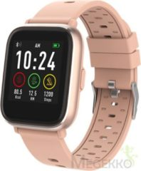 Denver SW-161 / Smartwatch / Touchscreen sportwatch met hartslagmeter / Social activity / iOS & Android / Fitbit / Roze