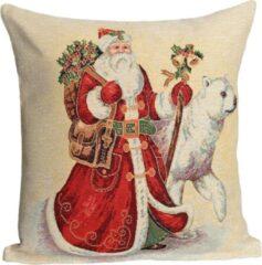 Rode Emme Kussenhoes Kerst Big Santa Sierkussen Sierkussenhoes