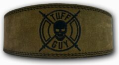 Tuff Guy Sports Military groen Lifting Belt, Extra - Large, met Fast Clip systeem en 12mm dikte.