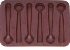 Bruine Cosy&Trendy Cosy & Trendy Chocoladevorm Lepel - Silicone - 16.8 cm x 11.8 cm x 1 cm