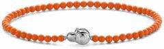 Ti Sento Milano TI SENTO-Milano 2965CO Armband Beads zilver cognac 3 mm 19,5 cm