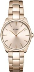 CLUSE Horloges Feroce Petite Steel Gold Colored Roze