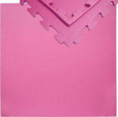 Roze Eyepower 12mm dikke vloerbeschermingsmat 90x90cm trainingsmat Yoga-PuzzleMat uitbreidbaar