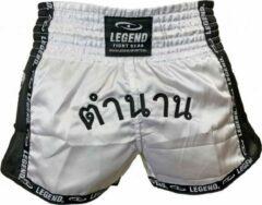 Witte Legend Sports Kickboks broekje THAI Legend Trendy XL