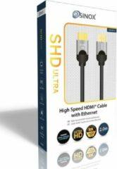 Zwarte Sinox SHD Ultra HDMI kabel - versie 2.1 (8K 60Hz HDR) - 2 meter