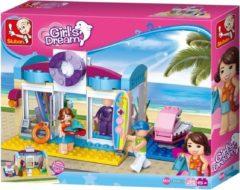 Sluban Bouwstenen Girl's Dream Watersportwinkel Bouwstenen Girl's Dream Watersportwinkel