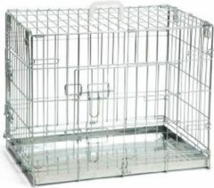 Beeztees Hondenbench Verzinkt - 2 Deurs - 62 x 44 x 49 cm