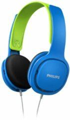 Blauwe Philips SHK2000BL on-ear kinder koptelefoon