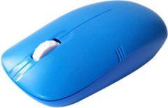 Indena 2.4Ghz draadloze optische muis 1000dBi hoogwaardige muizen USB voor PC laptop G-136 - Blauw