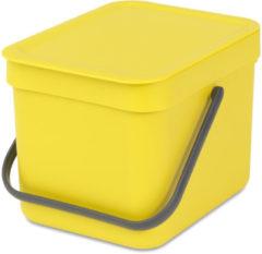 Gele Brabantia Sort & Go Prullenbak - 6 l - Yellow