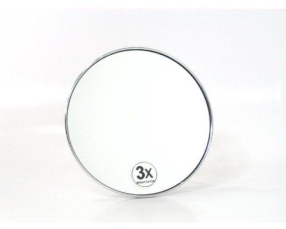 Afbeelding van Douche Concurrent Cosmeticaspiegel Rond Woodynox 3x Vergrotend met Zuignap 15.5cm