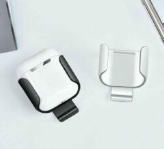 COTEetCi AirPods Beschermer met Bevestigingsclip geschikt voor Apple Airpods 1/ 2 - Zwart
