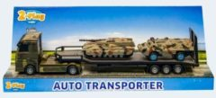 Auto 2-Play militair transporter met 2 tanks - Speelgoedauto 2Play