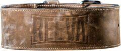 Bruine Reeva leather lifting belt - gewichthefriem - small