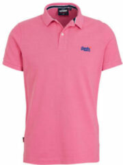 Roze Superdry Classic Pique S/s Polo M1110004a Shocking Pink Twist