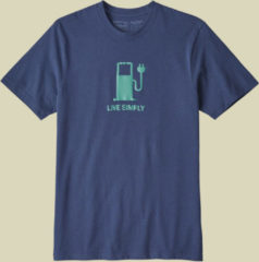 Patagonia Live Simply Power Responsibili-Tee Men Herren T-Shirt Größe XL dolomite blue