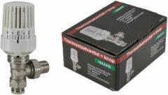 """Wiesbaden Riko Therm.radiatorventiel 1/2""""x15mm haaks"""