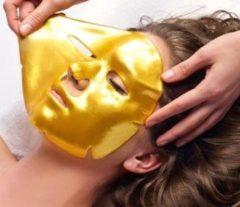 Gouden Luxury gold collageen Gezichtsmasker - anti-age - rimpels en wallen weg- vochtinbrengend