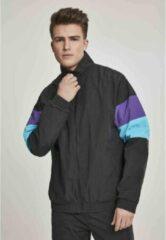 Urban Classics Trainings jacket -S- 3-Tone Crinkle Zwart