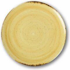 Sanodegusto Verwarmde borden set met technologie – 4delig servies in porselein – Ø 27 cm – Mimosa kleur – voor alle gerechten – 4 stuks