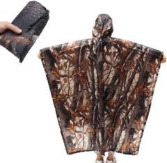 IPRee™ 220x145CM 3 In 1 Hiking Pocket Poncho Portable Rain Coat Waterproof Mat Sunshade