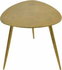 Fraaai Les® Bijzettafel Shine - salontafel - goud - aluminium - 42x42x42 cm - 42 cm - driehoek - buiten - tuin