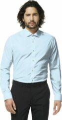 Lichtblauwe OppoSuits Cool Blue - Mannen Overhemd - Blauw - Feest - Maat 43/44