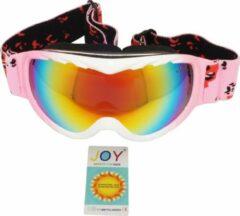 Roze Joy Kids Viga Kids TPU Ultra-Light frame. DUBBEL layer lens. Ski/Snowboard Goggle