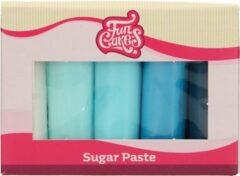 Lichtblauwe FunCakes Rolfondant Multipack - Blauw Palet - 5x100g