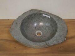 Grijze Puurteak Waskom natuursteen FL19172 - 50x40x17cm