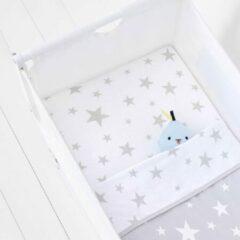 Grijze Snuz Beddengoedset voor co-sleeper - 45x90cm - Grey Star