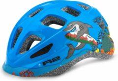 Blauwe R2 Bunny Fietshelm Haai Kinderen XS 48 - 52cm